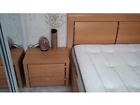 OTTOMAN DOUBLE BED WITH MATTRESS AND TWO CHEST OF DRAWERS HARDLY USED IN GREAT CONDITION