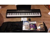 Korg SP-170s with pedal, bag and music books
