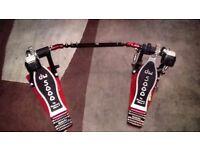 Drum Workshop 5000 series double bass drum pedal