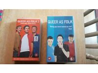 QUEER AS FOLK BOX SET OF 1ST SERIES AND ALSO SERIES 2 VIDEO TAPE (NOT DVD)