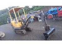 Volvo Mini Digger EC14 Excavator 1.5 ton