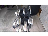 Howson Hunter golf clubs plus bag and trolley