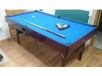 Pool Table with Cue, Also comes with table tennis option.