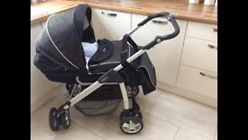 Silver Cross Freeway pushchair with raincover