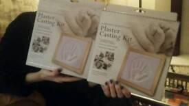 Two plaster making kits