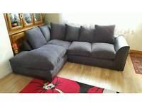 Fabric corner sofa black/grey color