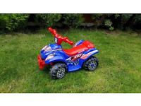 Evo ATV Quad Bike Electric Ride-On Blue & Red