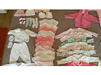 Baby Girl Clothes 0-3 Months 46 Pieces Clothing Bundle