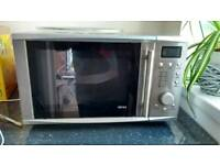 Onn Stainless Steel 1000w Microwave Oven- Excellent Condition!