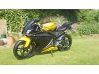 Yamaha YZF R125 (150cc engine), 12 Months Mot, Free delivery & warranty