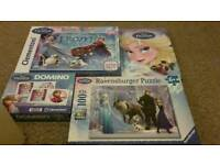 Frozen Puzzles+Game+Book Bundle