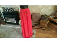 New look red maxi,skirt size 10