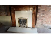 fire surround , marble and fire