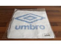 NEW - ALL SIZES Men's Umbro Houndstooth Logo T-Shirt White/Blue BNWT Small Medium Large XL Dogtooth