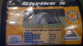 Dome tent for up to 5 people, easy and quick to erect.