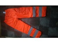 Two pairs of chainsaw trousers