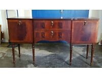 MEREDEW SIDEBOARD ON HIGH LEGS / LONG JOHN WOODEN UNIT / CABINET DELIVERY AVAILABLE