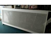Wooden white radiator cover