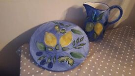 Ceramic Cheese Plate & Matching Jug Marks & Spencer's