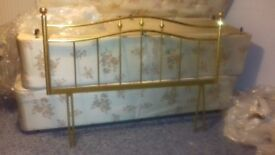 Brass coloured double bedhead