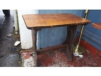 Vintage Farmhouse Side Table / Writing Desk in Good Condition