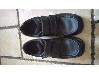 Boys Clarks Black Leather School Shoes