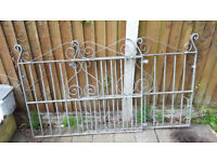 Galvanised Wrought Iron Gates (Pair) - Grat Condition