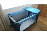 Huack Full Cot Bed Size Travel Cot, with Extra Thick Mattress