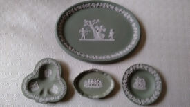 4 pieces of Wedgwood Jasper (Green) for sale (pre 1980's)