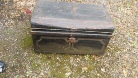 OLD TIN CHEST