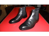 GOOD QUALITY MENS LEATHER CHELSEA BOOTS BLACK SIZE 8 NEW
