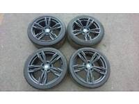 """Bmw 19"""" Transformers alloy wheels with tyres"""