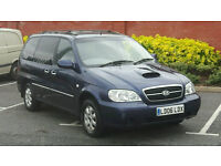blue 2006 kia sedona diesel manual only 85k 11 months mot 7 seater