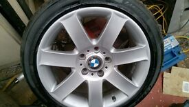 "bmw alloy wheels and tyres 17"" with tyres fit e46 etc"