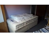 Single bed with 2 drawer storage and silentnight mattress