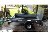 "Trailer (Galvanised). 6' 6""x4'. Drop down ramp Excellent 'as new' condition."