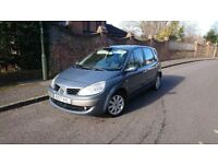 2007 renault scenic, 1.6 petrol,79k, 6 speed manual, metalic paint, AirCon, electric panoramic roof