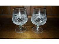 Crystal brandy glasses
