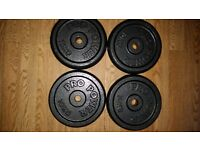 Metal weights and bars 122kg total weight.
