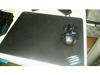 Gaming mouse and mouse pad