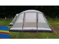 Outwell Montana 6 Premium Collection tent used 3 times all poles, pegs good condition