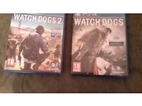 PS4 Watch Dogs & Watchdogs 2 games