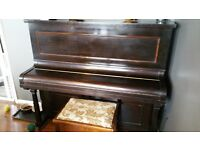 PIANO £50.00 - MUST COLLECT (3/4 MAN JOB) HAS LITTLE DOG NIBBLE - must go this week or scrapped