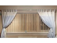 6 x extra large vertical blinds suede thermal cool lining good condition thick cost over £1800