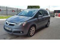 2007 Vauxhall zafira 7 seats 1.9 diesel 6 speed 12 months mot genuine low mileage