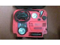 Car tyre compressor kit.