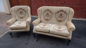 2 SEATER SOFA/SETTEE AND CHAIR