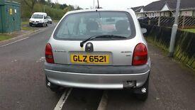 Vauxhall Corsa 1.0cc 2000 MOT just up
