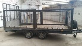 IFor Williams Twin Axle caged Beaver tail trailer.