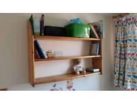 Solid pine shelf wooden